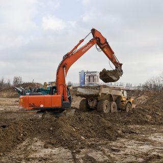 Travaux de terrassement sur le Site de Maintenance et de Remisage