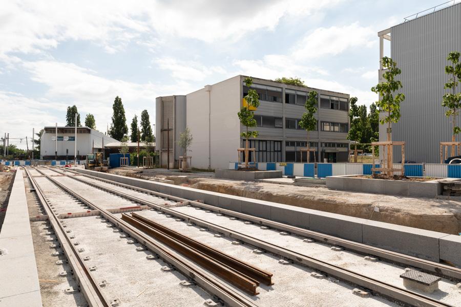 Les travaux à Orly, août 2020