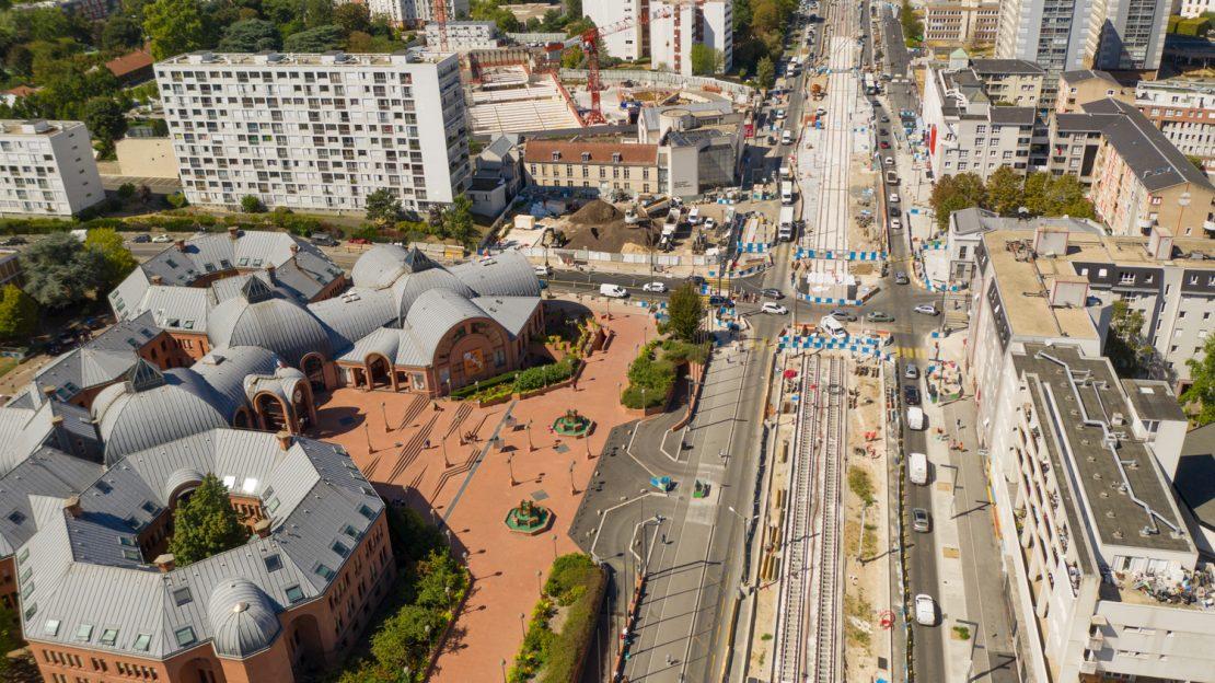 Travaux avenues Robespierre et Gagarine, à Vitry-sur-Seine, novembre 2020