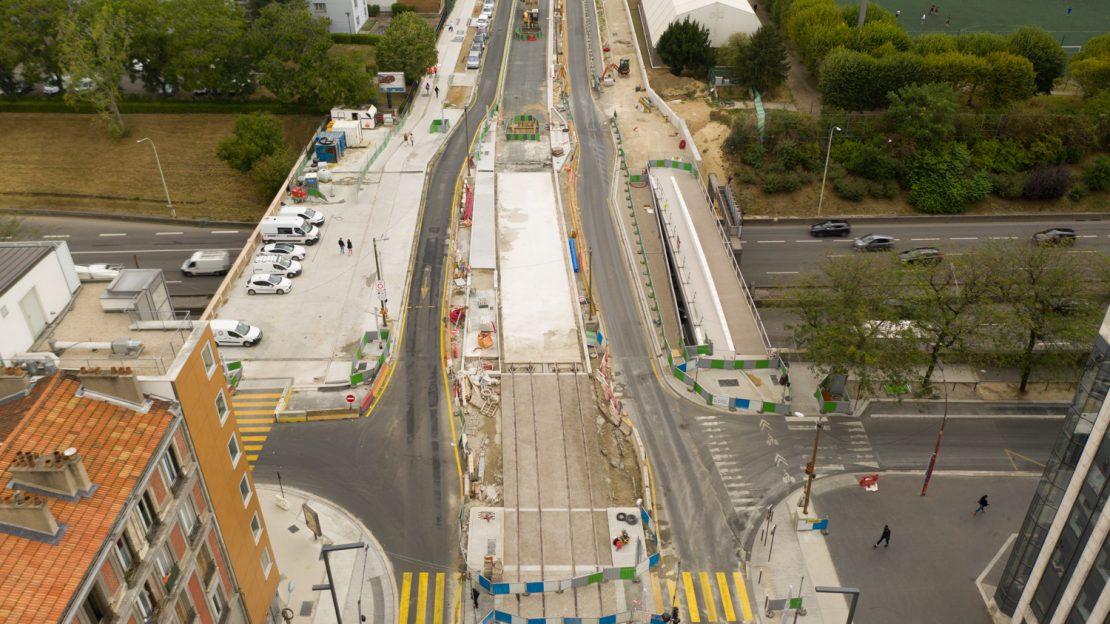 Travaux sur la passerelle entre Ivry-sur-Seine et paris, novembre 2020