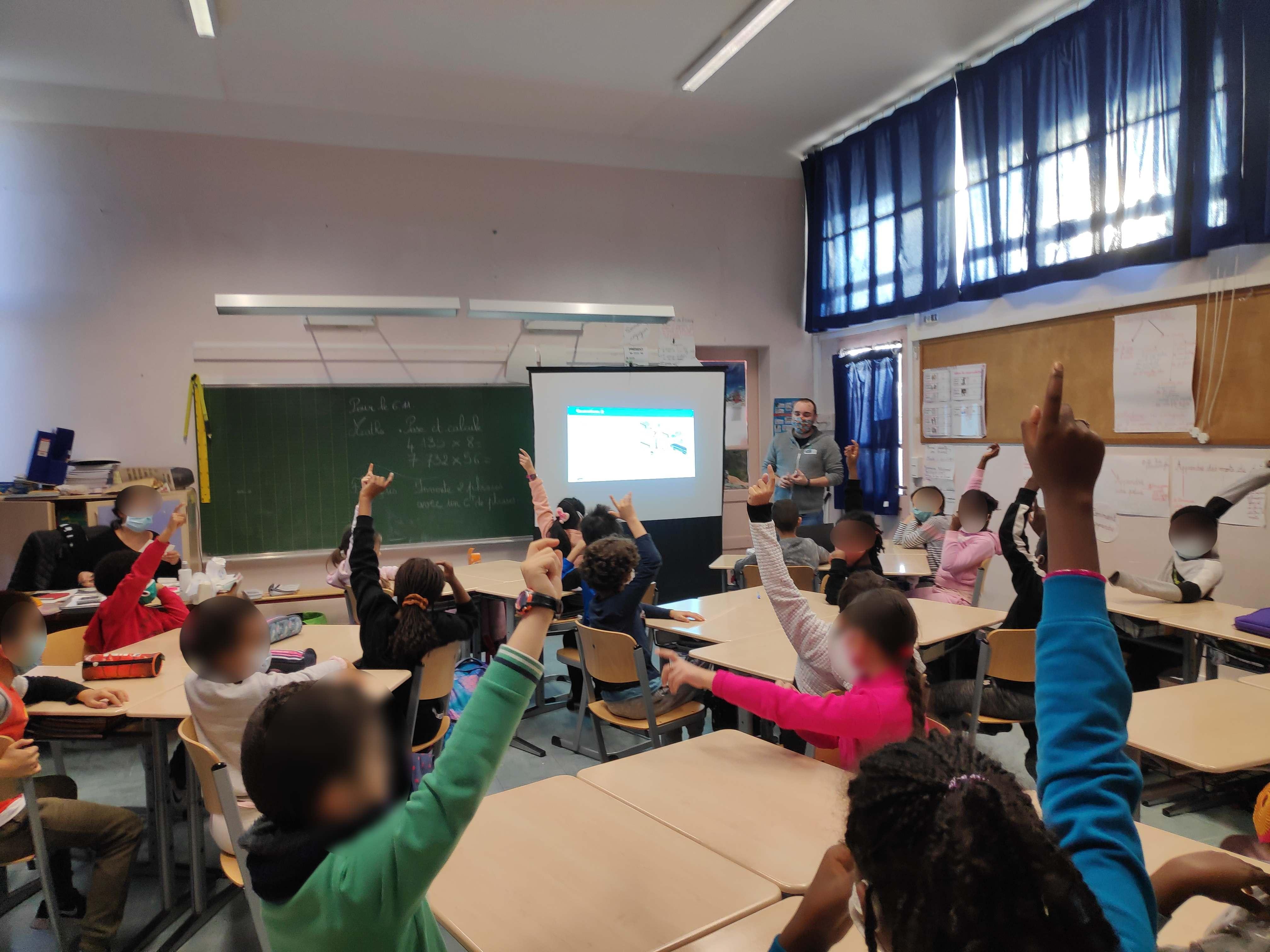 Animation d'ateliers dans les écoles