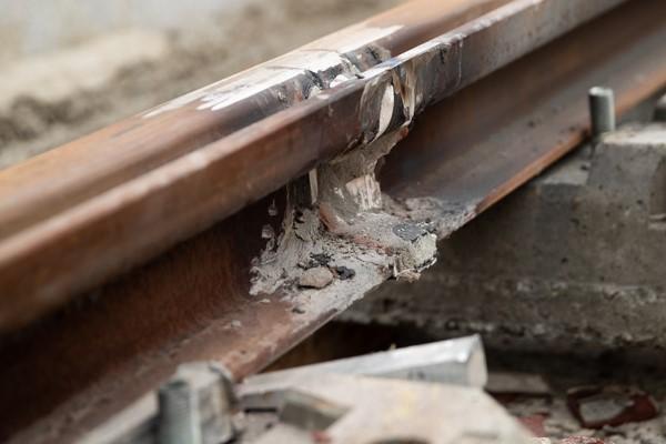 Décalaminage des rails, décembre 2020