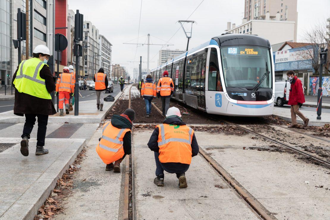 Les travaux à Vitry-sur-Seine, février 2021