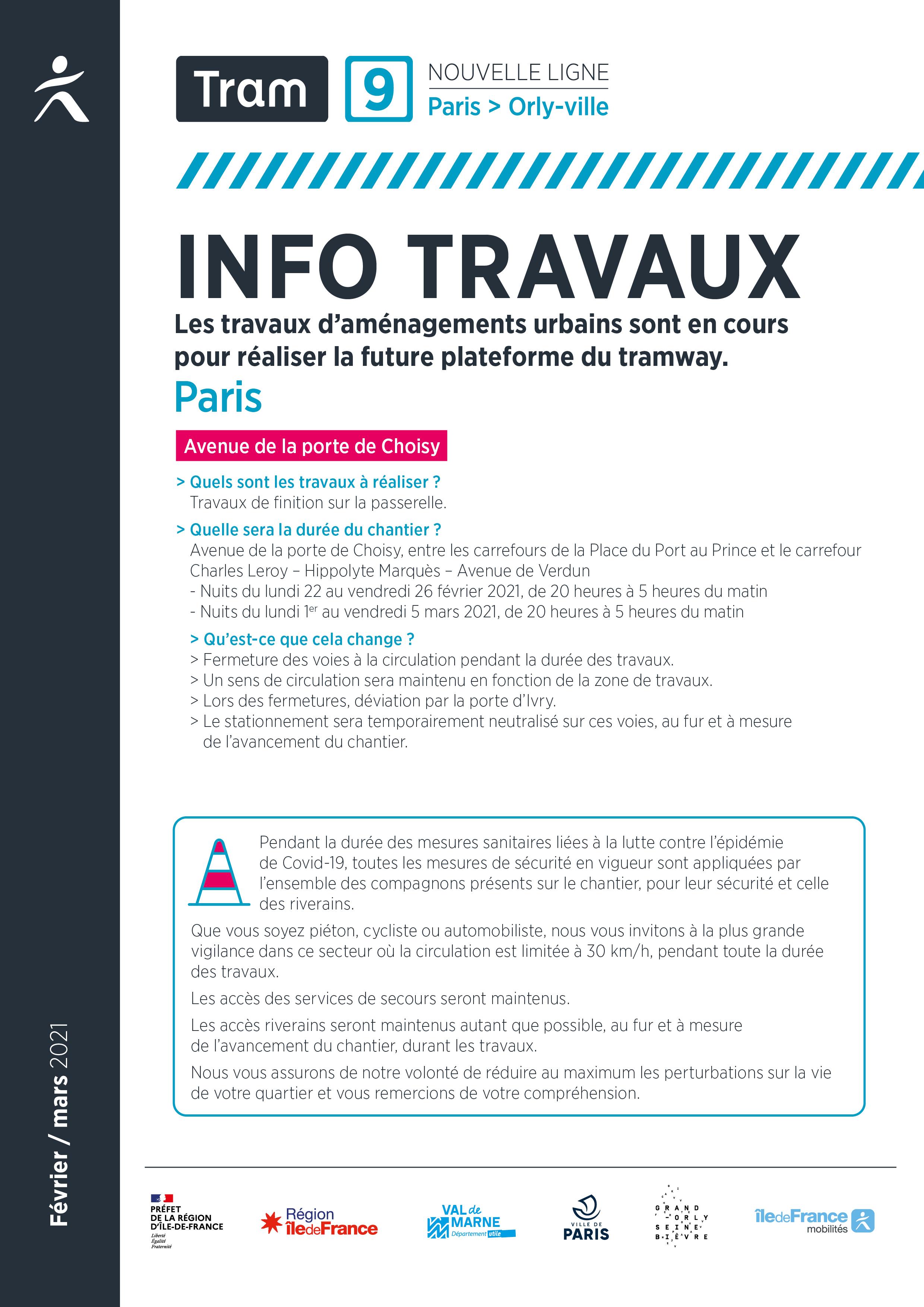 Travaux à Paris, février / mars 2021