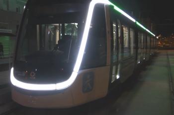 Les essais nocturnes du Tram 9