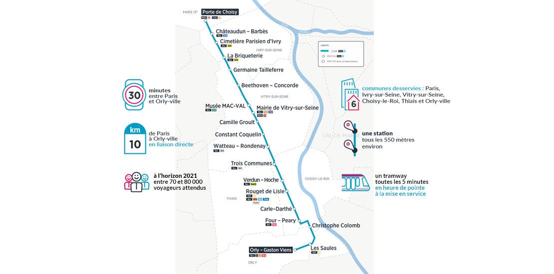 Le tracé du Tram 9