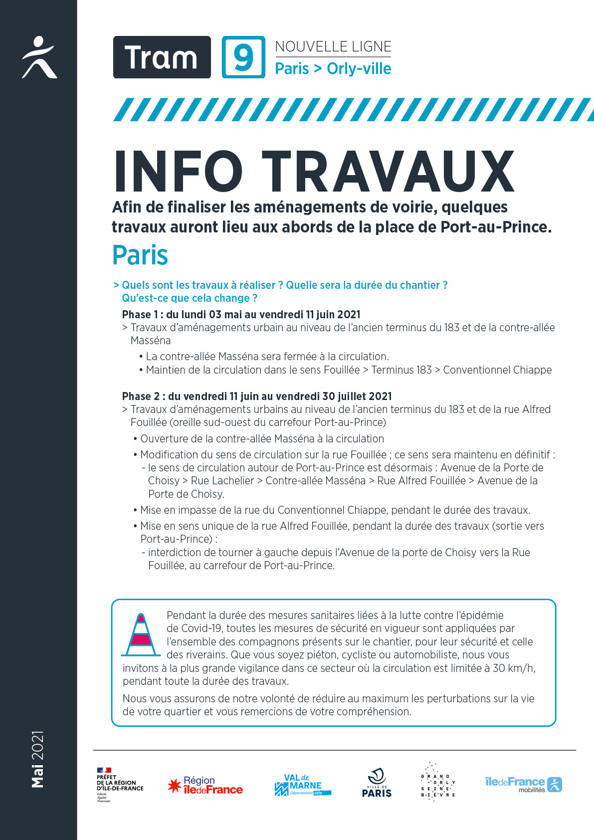Travaux à Paris, de mai à juillet 2021